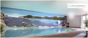 Schwimmbad.Wandmalerei.Hamburg.Illusionsmalerei