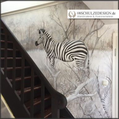 Wandbild.Hamburg.Afrika.Zebra